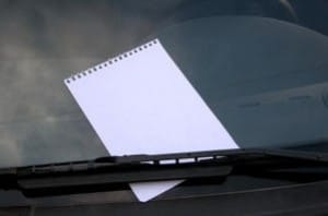 note-on-windshield