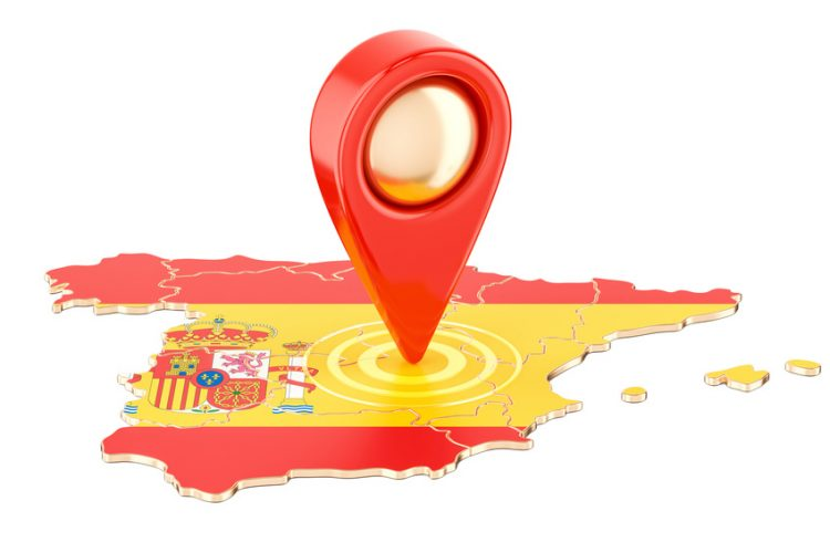 Map Pointer for Spain  750x500 - Removals to Spain