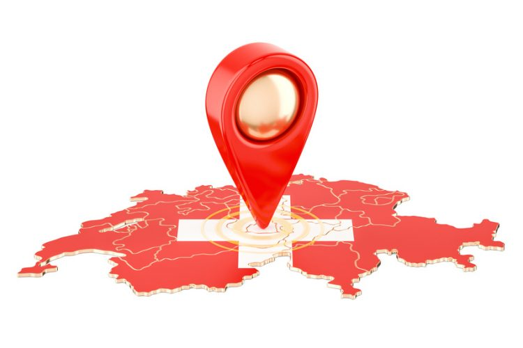 Map Pointer for Switzerland 750x500 - Removals to Switzerland